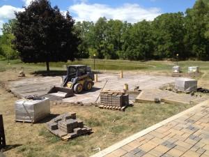 Booker's Backyard - Site prep for lower patio.