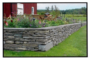 Dry Stack Garden Wall