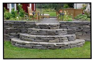 Mecklenburg, NY - Colonial Wallstone Steps & Wall