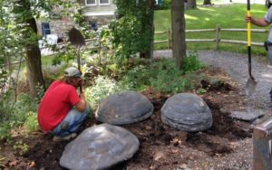 "Trumansburg, NY - ""Turtle"" Stone Installation"